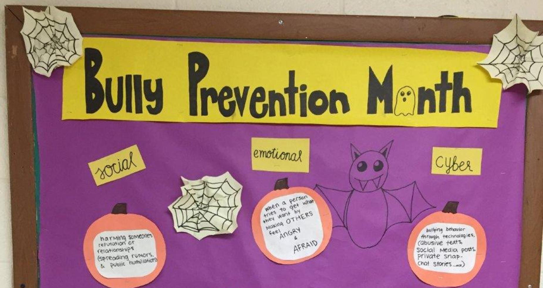 a picture of bully prevention bulletin board