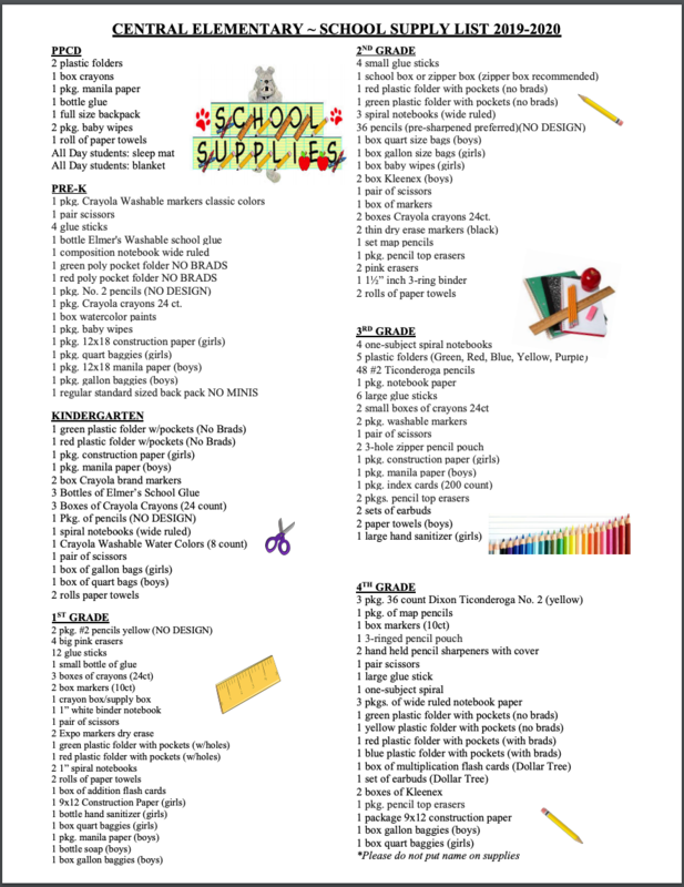 Elementary Supply List 19-20 Featured Photo