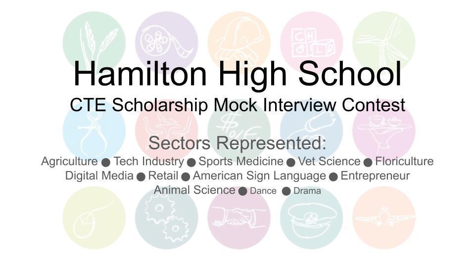 CTE Scholarship Mock Interview Contest