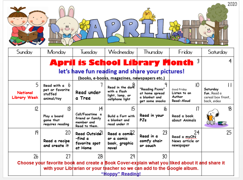 April is School Library Month Featured Photo