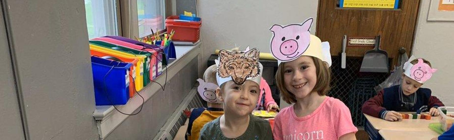 The Three Little pigs - 1st grade students
