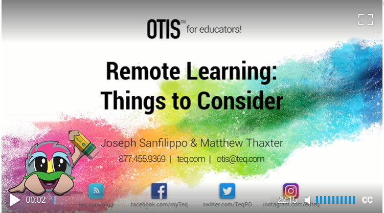 Remote Learning OTIS Course