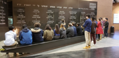 Picture of students visiting the Holocaust Center