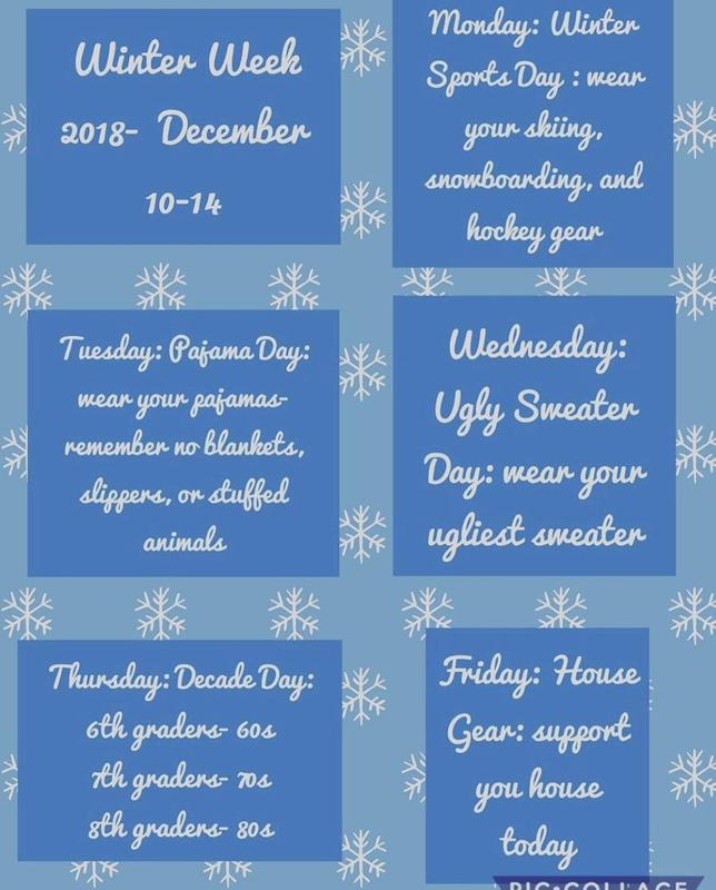 Winter week info