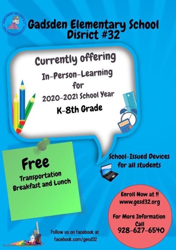 Online Registration for K-8th Grade Students for 2020/21 and 2021/22!   Inscripciones en linea para el año escolar 2021-2022 Featured Photo