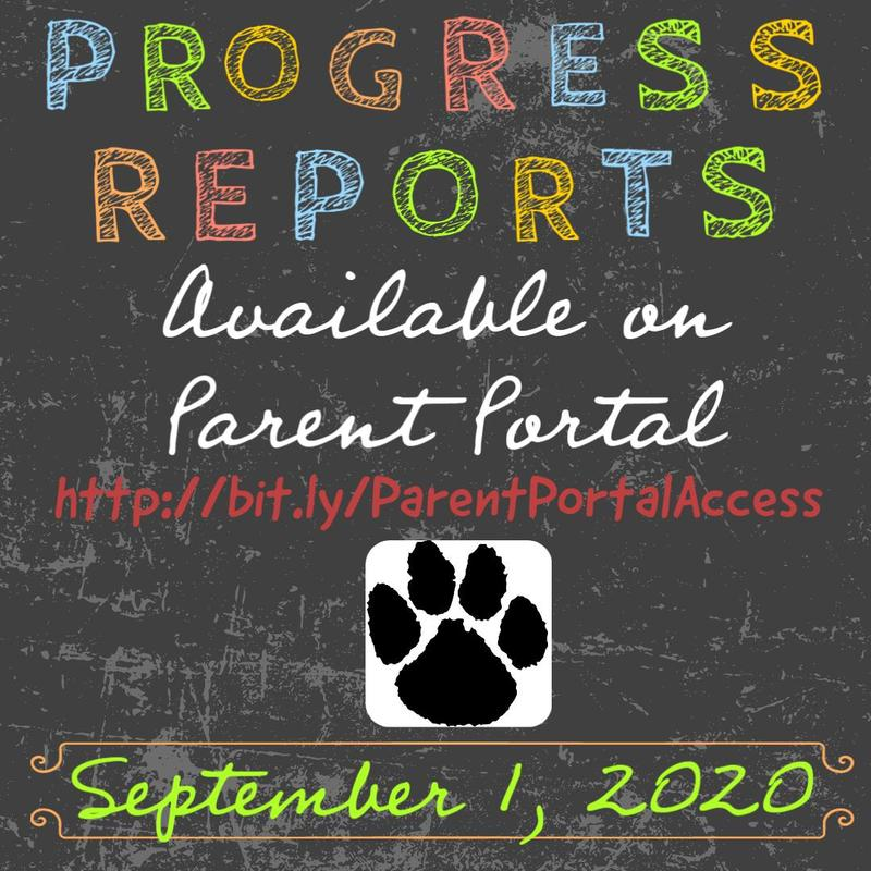 Progress reports available on 9/1/2020 on Parent portal