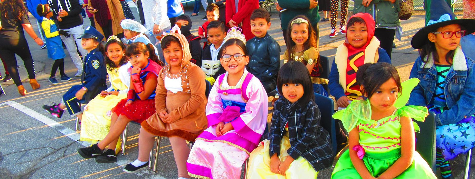 Northrup Students during the Halloween Event