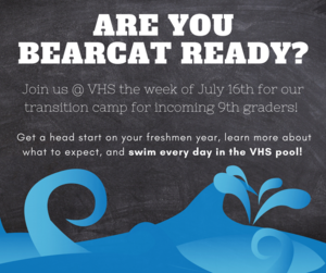 Bearcat Ready July 16 - 20 at VHS