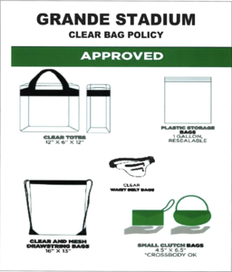 Grande Stadium Clear Bag Policy