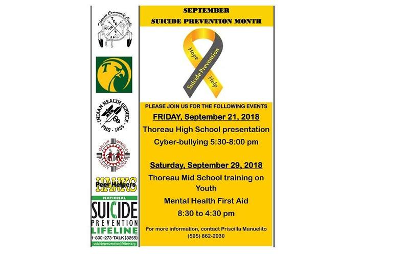 Suicide Prevention Presentation/Hearing on Federal Programs