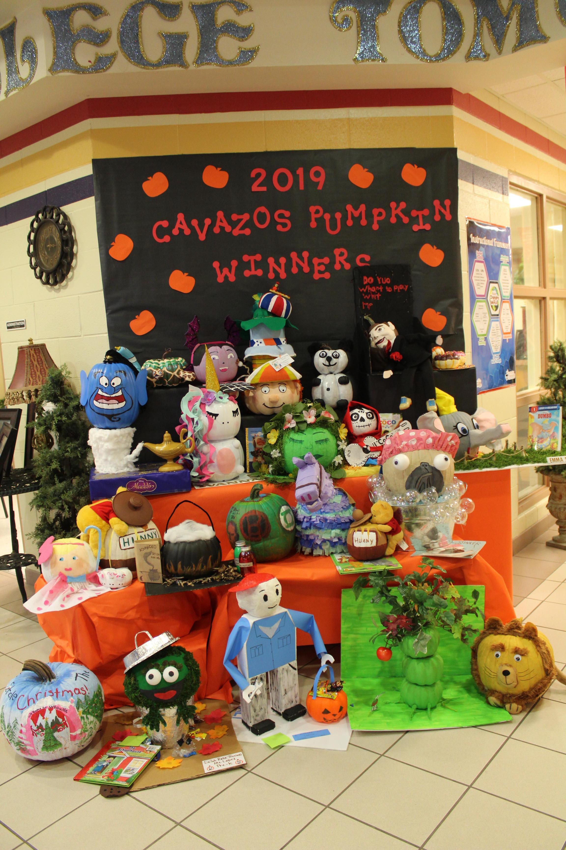 Book Character Pumpkin winners