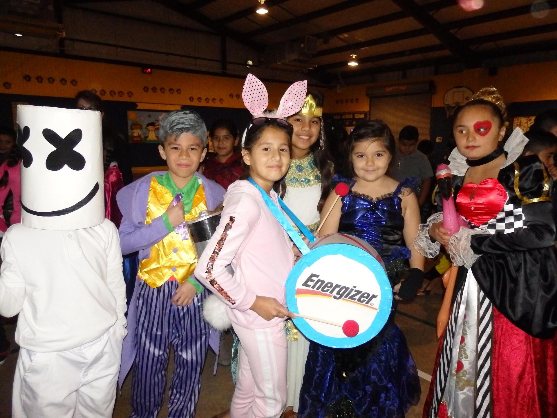 Guerra students in Halloween costumes