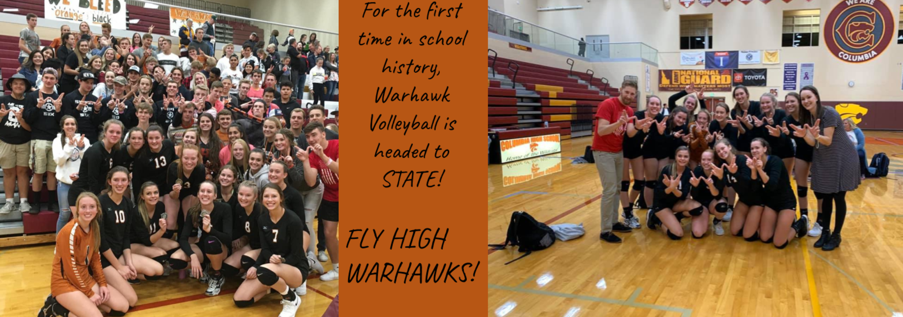 For the first time in school history, warhawk volleyball is headed to state.