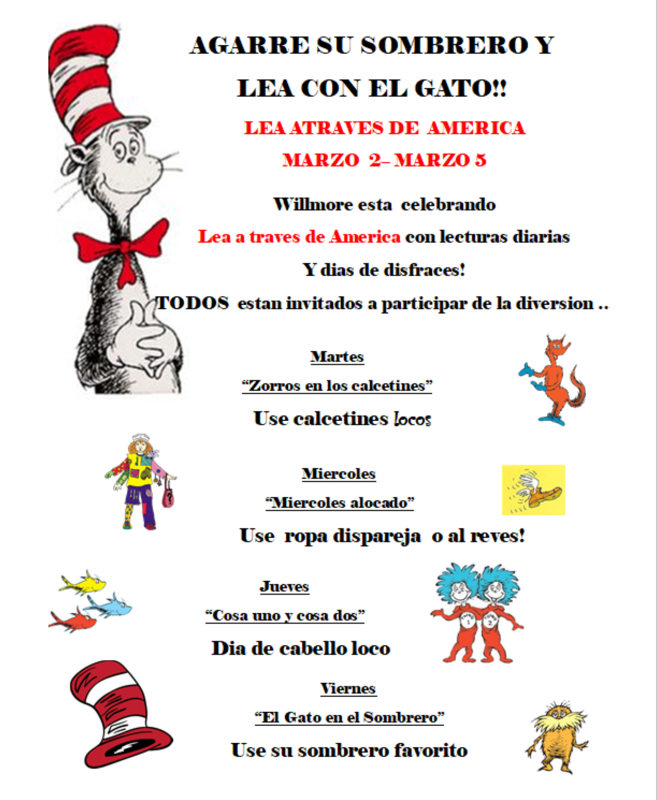 Read Across America Schedule - SPANISH