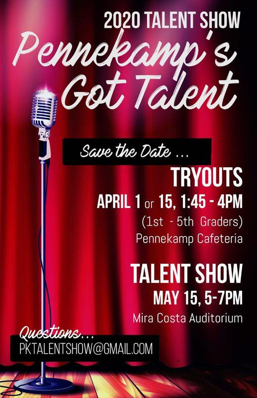 Save the Date: Pennekamp Talent Show May 15, 2020 Thumbnail Image