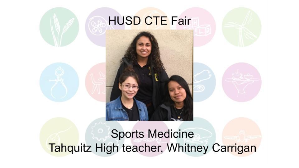 Sports Medicine Tahquitz High teacher, Whitney Carrigan