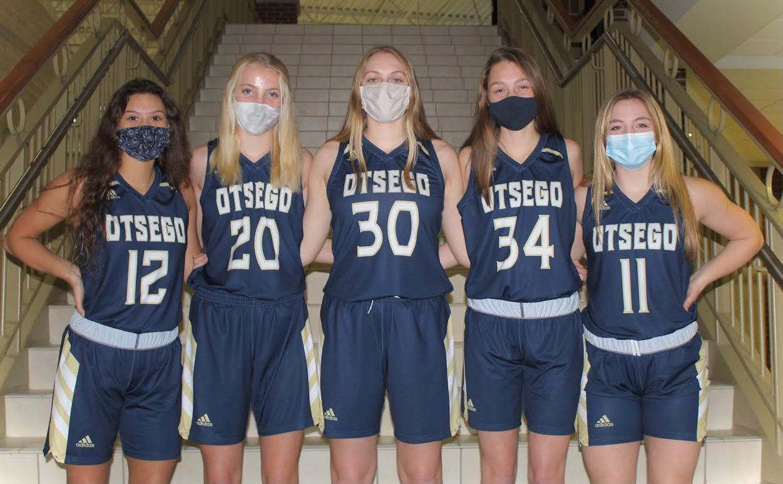 Varsity girls basketball seniors