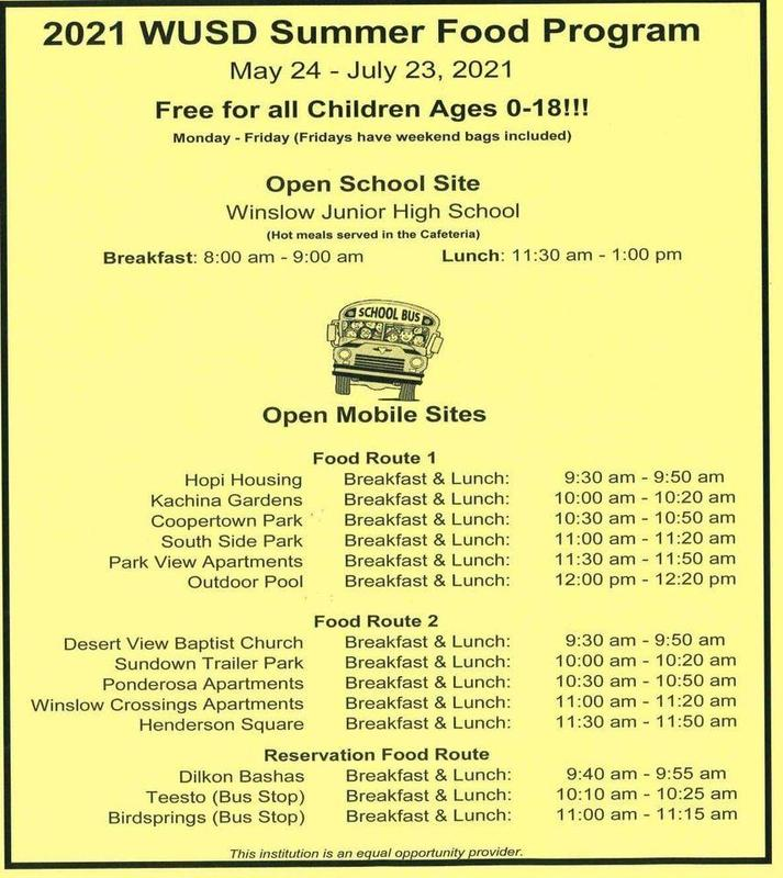 WUSD Summer Breakfast and Lunch Featured Photo
