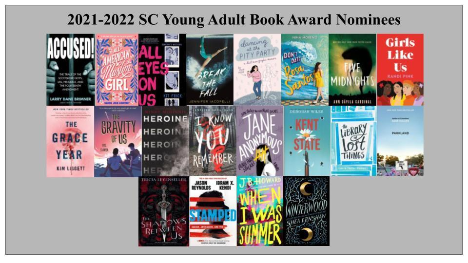 Image with SC YA nominee covers