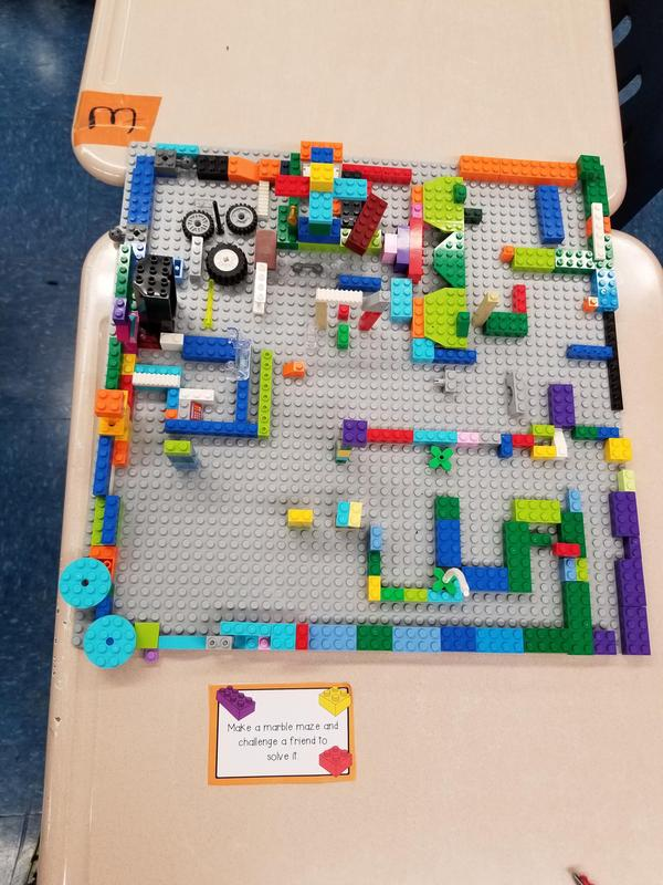 marble maze with lego's