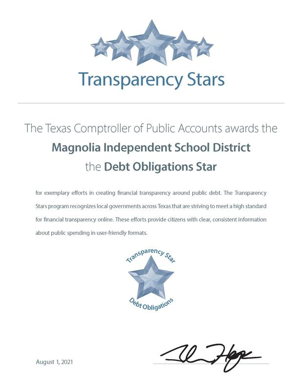 Debt Obligations Transparency Stars Certificate - Magnolia ISD.jpg