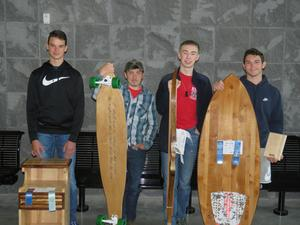 TKHS students earned honors at the state MITES competition including one statewide first place honor for a surf board.