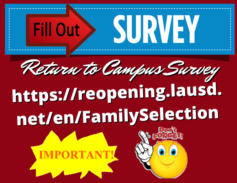 Return to School Survey : We ask that all families complete this program selection form by Sunday, December 6. Featured Photo