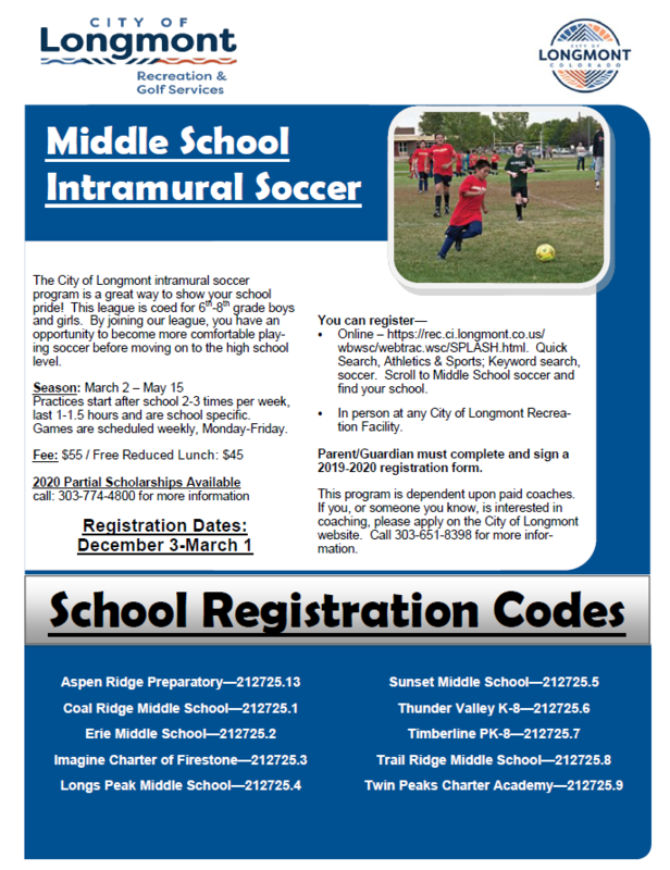 6th-8th Grade Spring Soccer - Registration now OPEN! Featured Photo