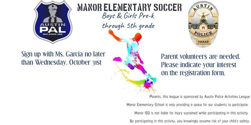 Soccer at Manor Elementary! Thumbnail Image