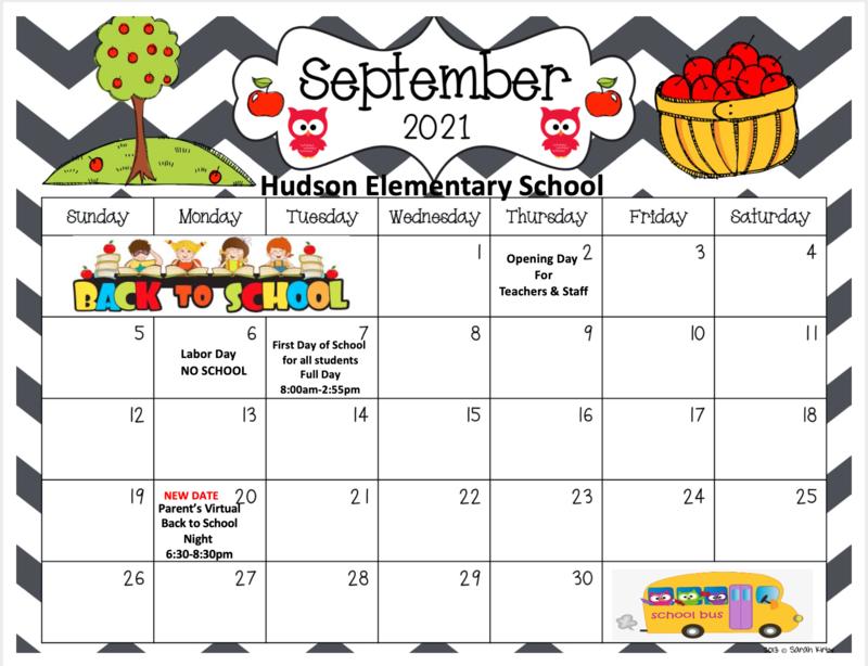September calendar in English