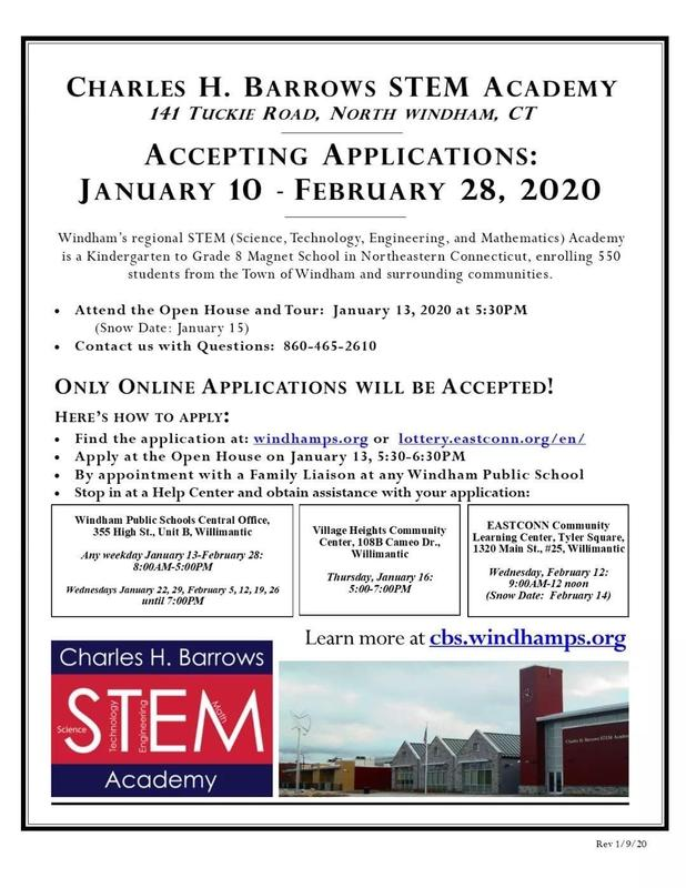 Charles H. Barrows STEM Academy Accepting Applications Thumbnail Image