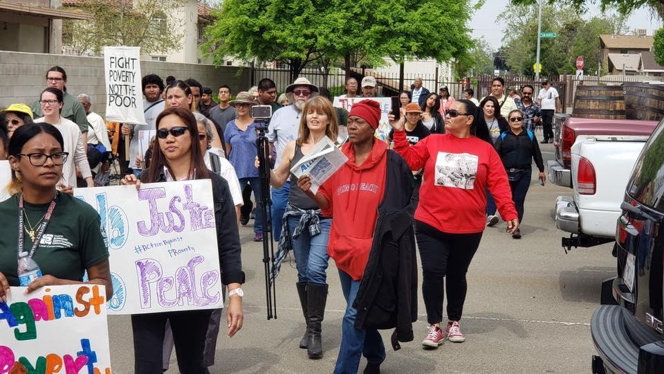 Marching through Fresno