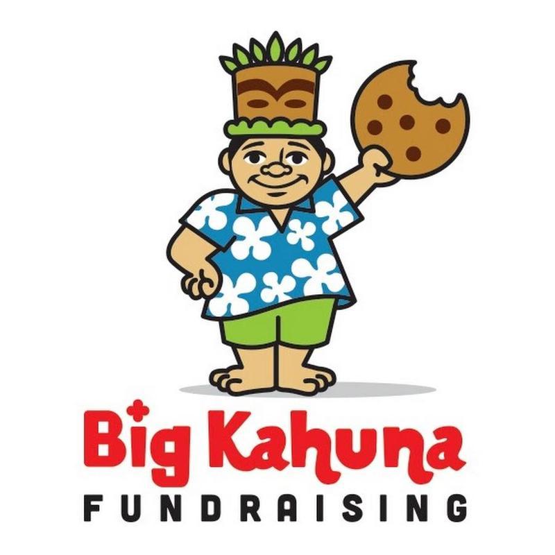 Big Kahuna fundraising Hawaiian man with cookie