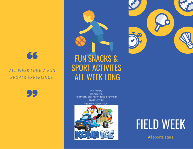 Field Day Week (Pre-Primary, Primary, and TLA Charter will do different festivities) Featured Photo