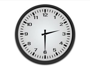 clock showing 2:30