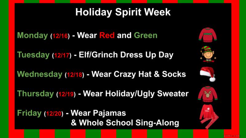 Holiday Spirit Week Thumbnail Image