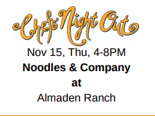 Chef's night out info Noodles & Company