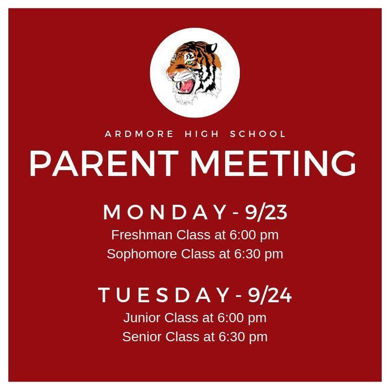 AHS Class Parent Meeting Featured Photo