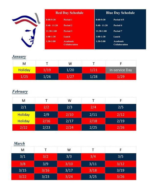 3rd Quarter Red/Blue Schedule Thumbnail Image