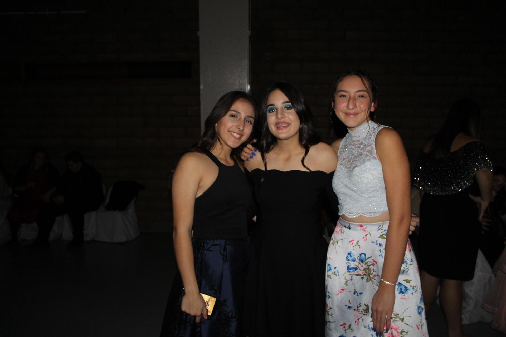 CUHS students posing at the Winter Formal.