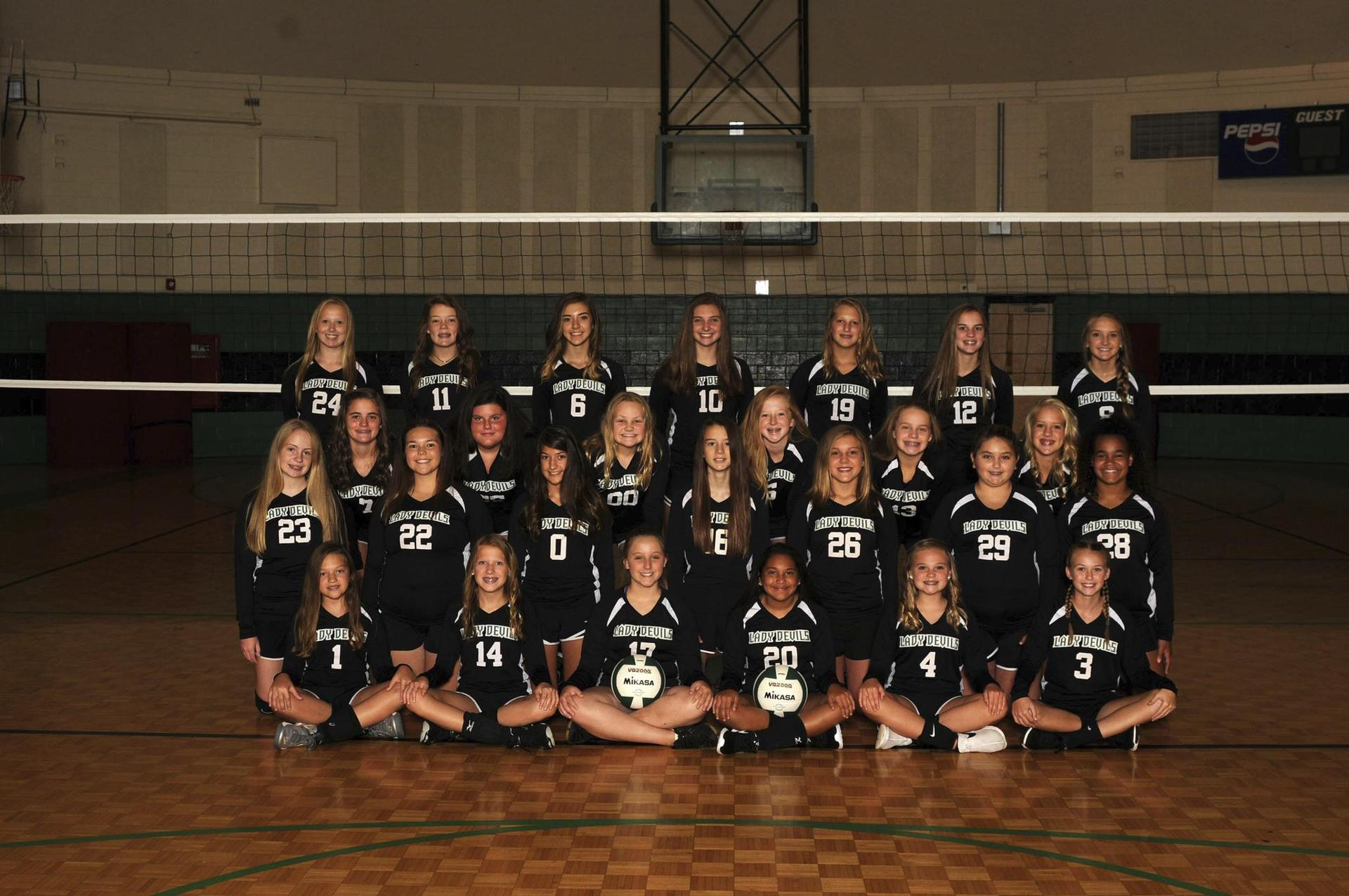 2018-2019 GMS Volleyball Team