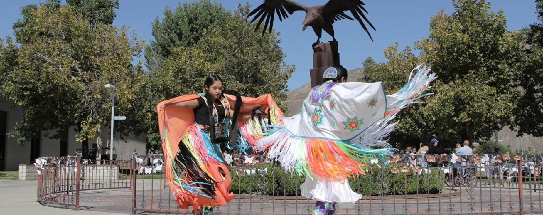 Native American Dancers performing at the Into the Future Event