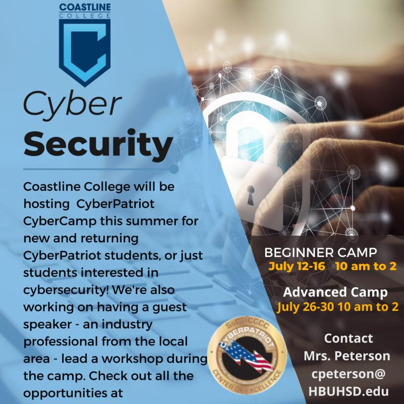 CTE - Cyber Summer Camp Thumbnail Image