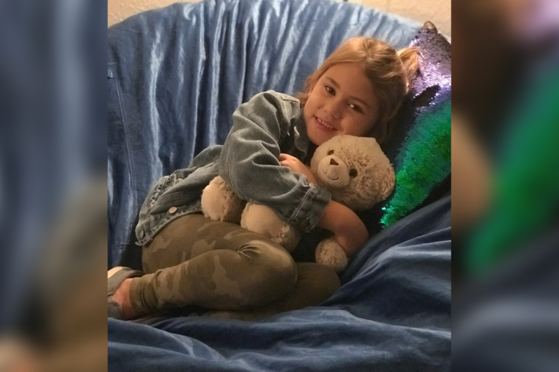 westwind student enjoys the mindfulness room to get rid of stress and relax