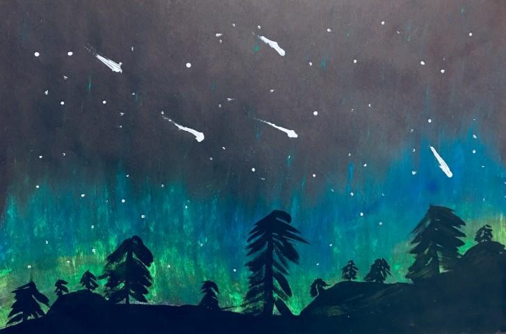 Northern Lights in Pastel- 6th Grade