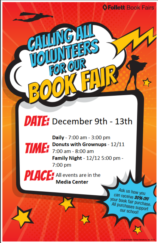 Volunteers needed for the Book Fair