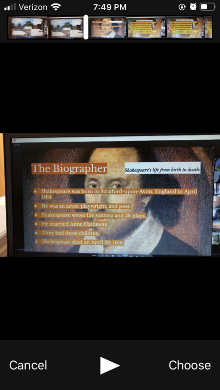 5th Grade Shakespeare Zoom Project Thumbnail Image
