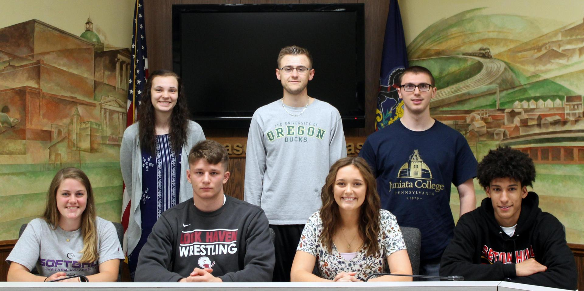 Spring Group Picture College signing 2018