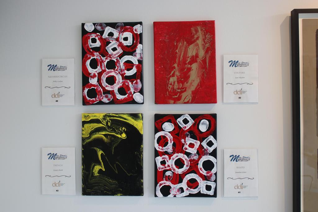 Artwork on display at exhibit