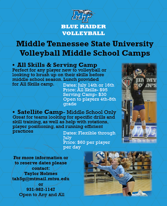 MTSU Volleyball Camp